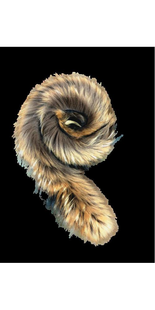 Опушки из натурального финского енота